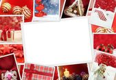 Collection of Christmas photos with copy space — Stok fotoğraf