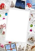 Collection of Christmas photos with copy space — Stockfoto