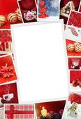 Collection of Christmas photos with copy space — Foto Stock