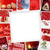 Collection of Christmas photos with copy spac — Stockfoto