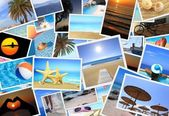 Collection of summer vacation photos — Stock Photo