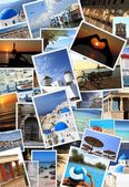 Collection of Greek islands photos — Stock Photo