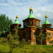 Holy Trinity Cathedral in Karakol — Stock Photo #29928309
