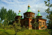 The Holy Trinity Cathedral in Karakol — Stock Photo