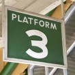 Platform 3 Sign — Stock Photo #11795415