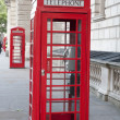 Two Red Telephone Booths, London - Stock Photo