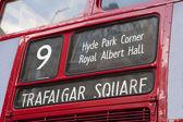 Londra otobüs yönünü — Stok fotoğraf