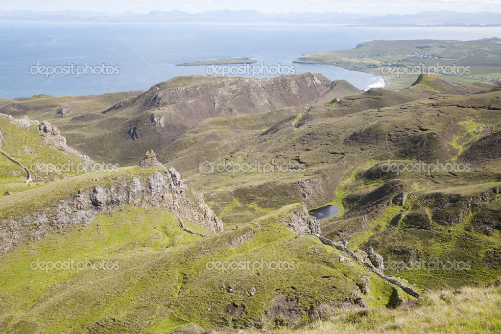 Quiraing; Trotternish; Isle of Skye; Scotland; UK — Stock Photo #13516115