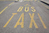 Bus, Taxi and Cycle Lane — Stock Photo