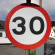 Stock Photo: 30 mph Speed Sign