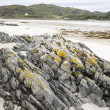 Rock on Morar Bay Beach, Scotland — Stock Photo