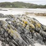Rock on Morar Bay Beach, Scotland — Stock Photo