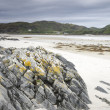 Rock on Morar Bay Beach, Scotland — Stock Photo #15705533
