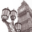 Stock Photo: Lamppost and Big Ben, London