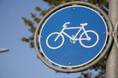 Blue Bike Symbol Sign — Stock Photo