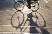 Silhouette of Bike — Stock Photo