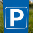 Stock Photo: Blue Parking Lot Sign
