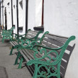 Stock Photo: Green Benches