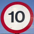 Ten Speed Limit Sign - Stock Photo