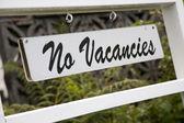 No Vacancies Sign — Stock Photo