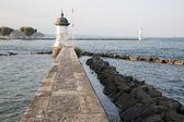 Pier on the Lake, Geneva — Stock Photo