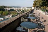 Puente viaducto en segundo plano, bern — Foto de Stock