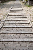 Cobbled Stone Steps — Stock Photo
