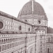 Duomo Cathedral Church Dome, Florence — Stock Photo