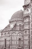 Facade of Duomo Cathedral Church, Florence — Stock Photo