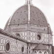 Duomo Cathedral Church Dome, Florence - Stock Photo