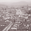 Stock Photo: Piazzdi SantCroce Square and Church in Florence
