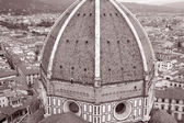 Dome of Duomo Cathedral Church, Florence — Stock Photo