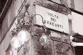 Volta del Mercanti Street Sign, Florence — Stock Photo