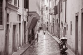 Raining in Street in Florence, Italy — Stock Photo