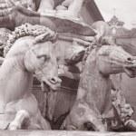 Detail on Neptune Fountain - Fontana di Nettuno by Ammannati (15 — Stock Photo #24245213