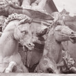 Detail on Neptune Fountain - Fontana di Nettuno by Ammannati (15 — Stock Photo