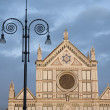 Santa Croce Church and Lamppost, Florence — Stock Photo