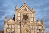 Santa Croce Church and Lamppost, Florence — Stock Photo