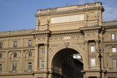 Arch of the Piazza della Republica, Florence — Stock Photo