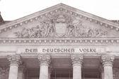 Здание парламента Рейхстаг, Берлин — Стоковое фото