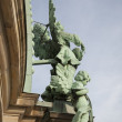 Angel Sculpture on Dome of Berliner Dom Cathedral Church, Berlin — Stock Photo