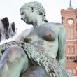 Neptune Fountain by Begas (1891), Alexanderplatz Square, Berlin — Stock Photo