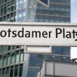Potsdamer Platz Street Sign, Berlin — Stock Photo #34154043