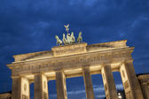 Quadriga Sculpture by Gottfried on Brandenburg Gate, Berlin — Stock Photo