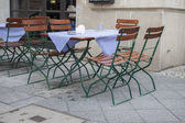 Cafe Terrace Table and Chairs, Berlin — Stock Photo