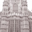 Westminster Abbey Facade, Westminster, London — Stock Photo