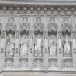 Statues on Main Facade of Westminster Abbey, London, — Stock Photo