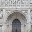 Main Entrance Door of Westminster Abbey, London — Stockfoto