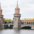Oberbaumbrucke Bridge and River Spree, Berlin — Stock Photo