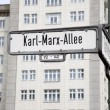 Постер, плакат: Karl Marx Allee Street Sign Berlin